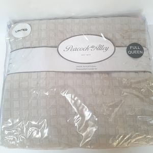 SALE!! Peacock Alley Stonewashed Coverlet Q